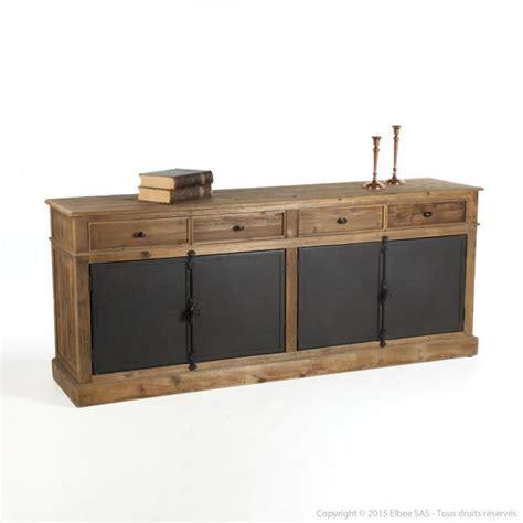 Attrayant Table De Chevet Design Pas Cher #8: Buffet-bas-en-bois-avec-tiroirs-et-portes-en-metal-1.jpg