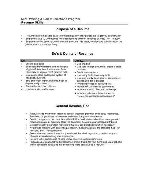 exle of resume with objectives cv objective statement exle resumecvexle
