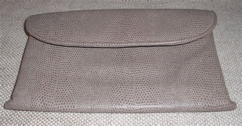 Purses Not Seen As A Clutch Performer by Vintage Taupe Reptile Printed Leather Wallet Clutch Purse