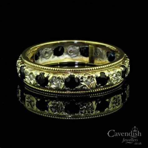 Blue Sapphire 9 95 Ct pretty 9ct gold sapphire and eternity ring