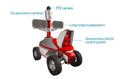 Alarm Mobil Merk Power Guard security guard robot with range acoustic device and