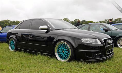 2008 audi a4 wheels featured ride steven s b7 audi a4 dtm on teal bbs lm