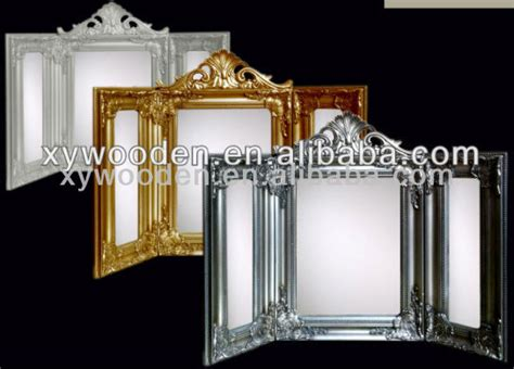 3 sided mirror dressing table foldable three sided wood framed vanity dressing table