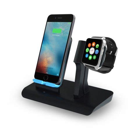 2 in 1 wireless fast charger charging pad stand iwatch charging holder for apple series