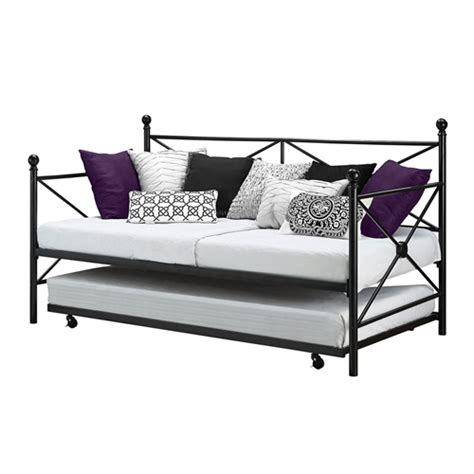 metal trundle bed frame twin size black metal day bed frame and roll out trundle