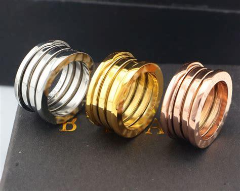 titanium steel fashion unisex ring 2015 bvl letter stretch 3 rings wedding