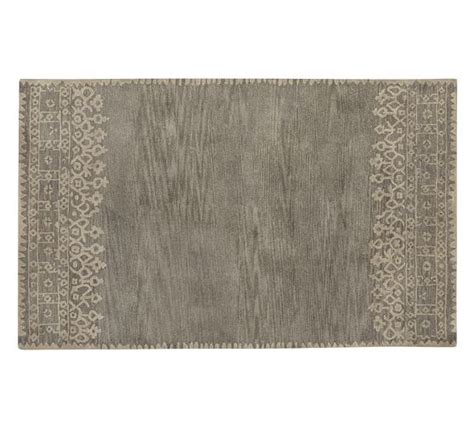 pottery barn desa rug desa bordered wool rug gray pottery barn