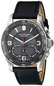 Original Swiss Army Chrono Ring Gold Black Leather victorinox unisex 241616 quot chrono classic quot stainless steel with black leather