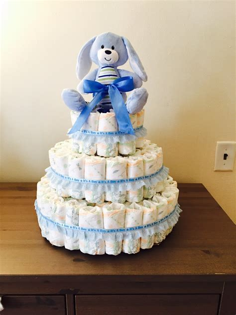 How To Make A Cake From Diapers For Baby Shower by Diy Cake