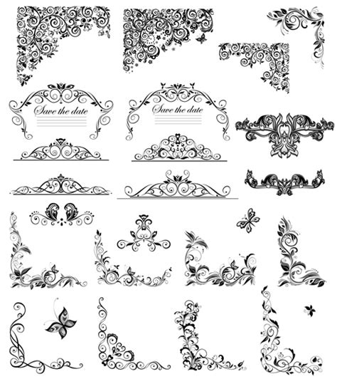 Amazing Christmas Ornament Frame #3: Floral-ornaments-border-and-corner-vector.jpg