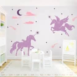 unicorn wall decal unicorn wall decal horse decal tree unicorn print wall sticker fantasy wall art