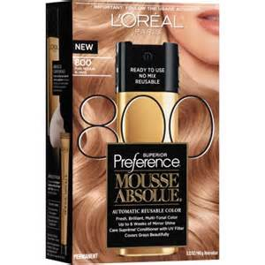 l oreal mousse hair color l oreal superior preference mousse absolue hair