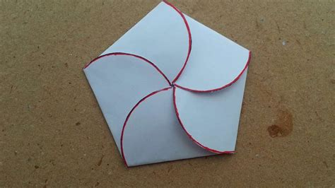 flower envelope card template how to make a closed flower petals envelope diy crafts