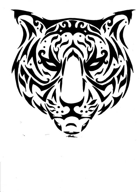 tiger with tribal tattoo free rq catty tiger tribal by vlindertje235 on deviantart
