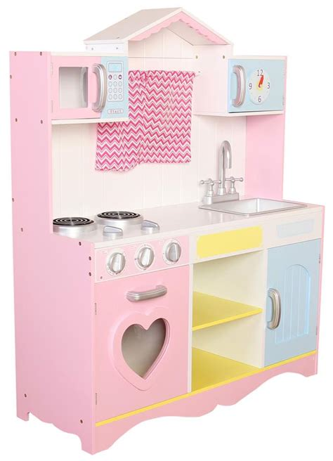 Pink Play Kitchen by Large Pink Wooden Play Kitchen Children S