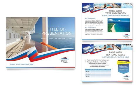 design brochure using powerpoint cruise travel powerpoint presentation template design