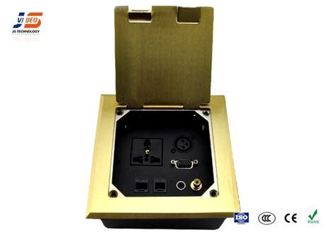 Power And Data Recessed Network Floor Socket , Electrical