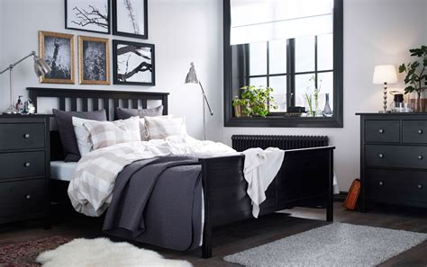 ikea bedroom gallery a large bedroom with a black brown bed with bed textiles