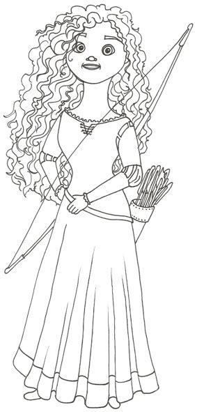 Disney Movie Princesses Merida Coloring Pages Disney Princess Merida Coloring Pages Printable