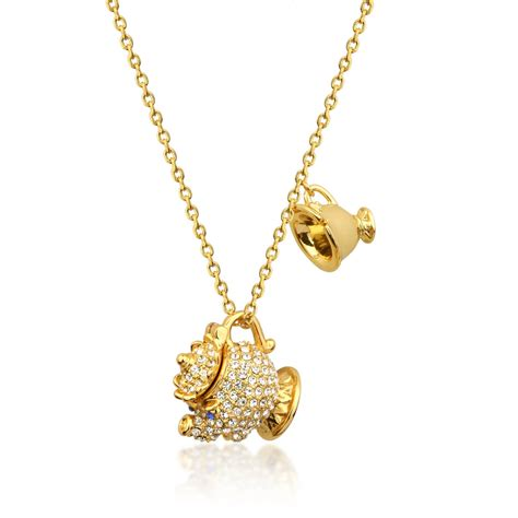 jewelry uk disney couture the beast gold plated mrs