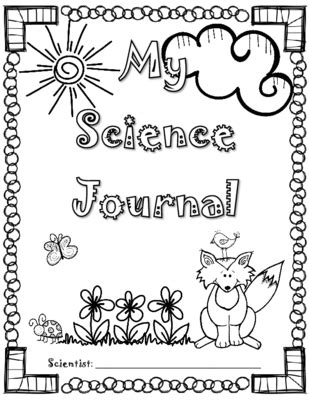 printable science journal cover science journal cover page