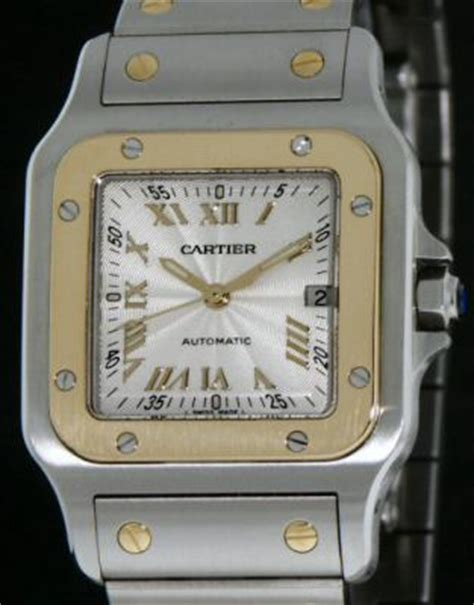 cartier santos automatic 231 10468 pre owned mens watches