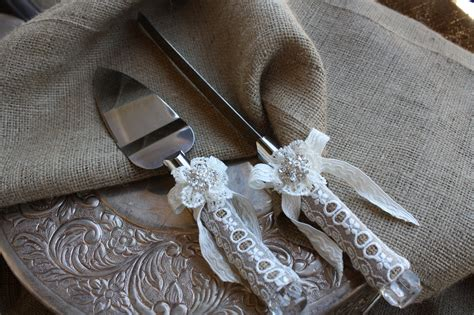 wedding knives wedding cake server and knife set country rustic chic