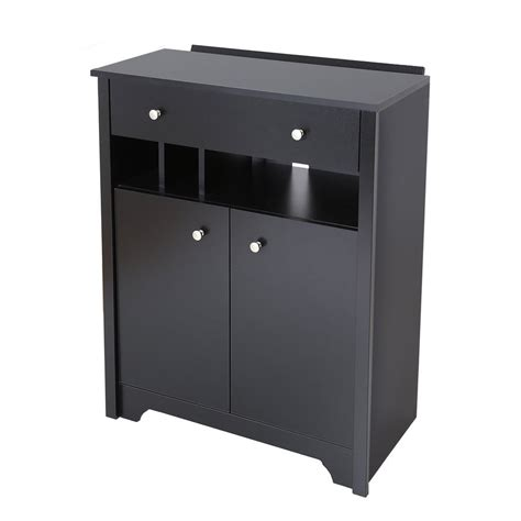charging shelf station shop south shore furniture vito black 3 shelf charging station office cabinet at lowes