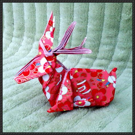 Origami Stag - origami stag free diagram