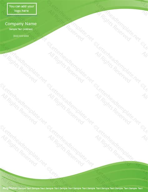 header and footer design online green waves letterhead template