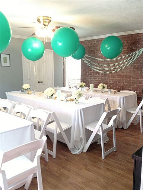 Mint and white boy's baby shower   Baby Showers   100 Layer Cakelet