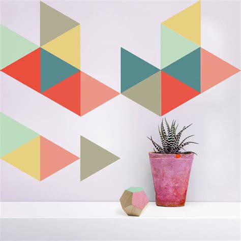 Rapport Furniture by Large Geometric Triangle Vinyl Wall Stickers By Oakdene