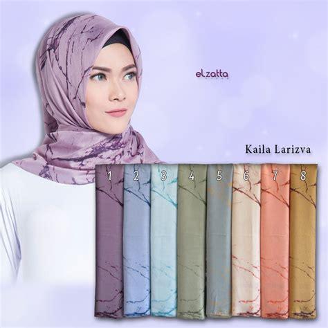 Jilbab Segiempat Motif segi empat motif abstrak elzatta kaila larizva jilbabmodel