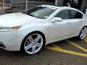 09 acura tl on 22 quot wheels dropstar tis