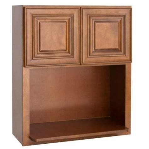 kitchen cabinets doors home depot lakewood cabinets 30x30x12 in all wood wall microwave kitchen cabinet with double doors in