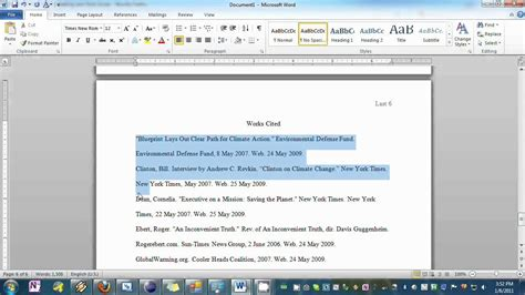 Setting Your Essay To Mla Format In Word Youtube Mla Template Microsoft Word