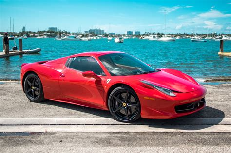 ferrari coupe ferrari 458 coupe red miami exotics exotic car rentals