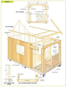 Cabin Building Plans by Free Diy Cabin Plans Free Cabin Plans Bunkie Plans