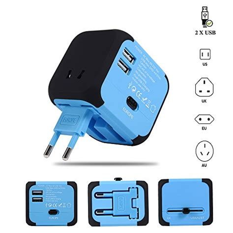 Ac Adapter Dual Usb 2 4a maxracy international travel power adapter with 2 4a dual usb charger and built in spare fuse