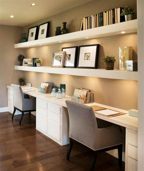 home office desks for two 35 floating shelves ideas for different rooms digsdigs