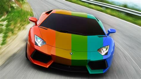 rainbow lamborghini lamborghini aventador red to rainbow youtube