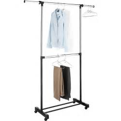 whitmor adjustable 2 rod garment rack chrome black