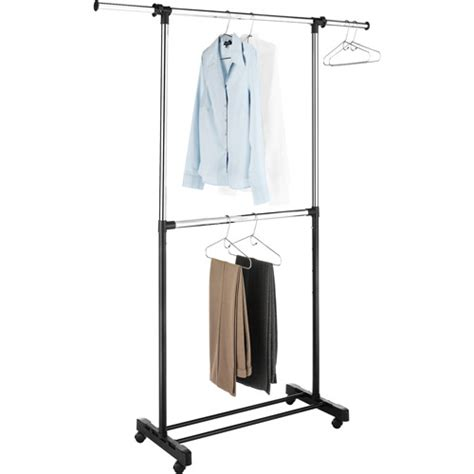Garment Rack Walmart by Whitmor Adjustable 2 Rod Garment Rack Chrome Black