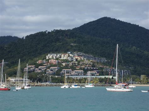boat mooring airlie beach photo of airlie beach on the water free australian stock