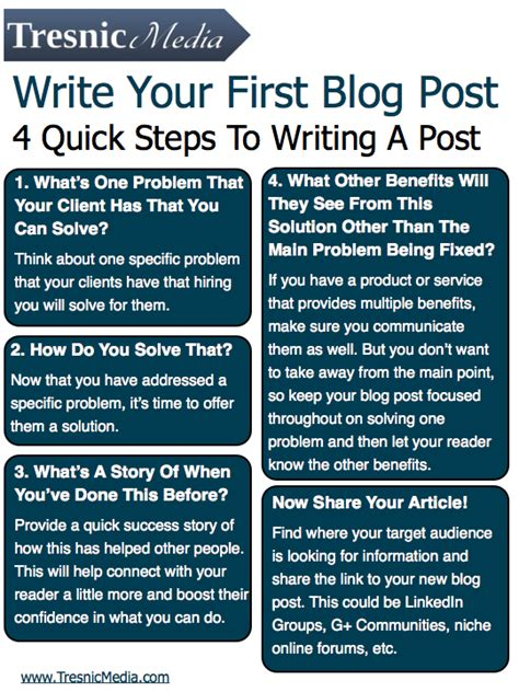 blog the first blog last posts 4 quick tips for writing a blog post infographic