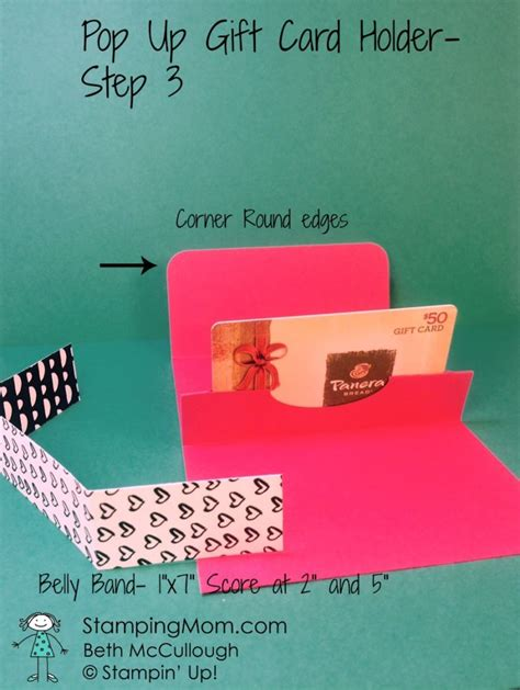 Stin Up Gift Card Holders - seasonal chums pop up gift card holder sting mom