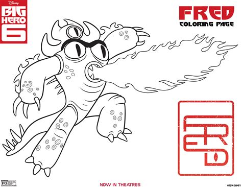 Free Coloring Pages Of Gogo In Big Hero 6 Big Printable Coloring Pages