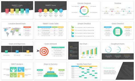 powerpoint deck template smart goals powerpoint template