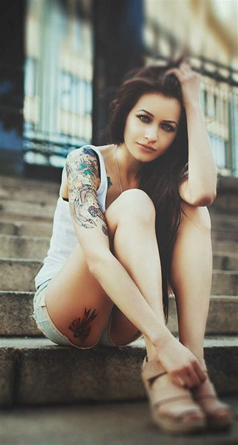 tattoo wallpaper hd iphone blue eyed tattooeed sexy girl iphone 6 plus hd wallpaper