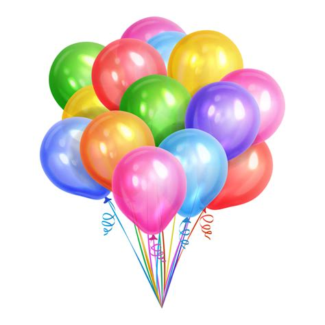 colorful balloons white background with colorful balloon vector free